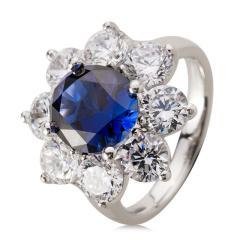 HB贵族荣耀深海蓝戒指 货号114395
