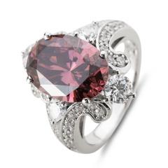 HB绚丽系列美戒之茶紫戒指 货号114400