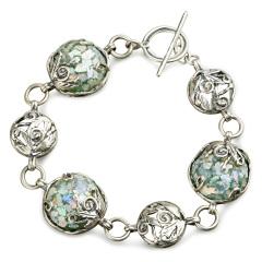 Zuman玻璃圆形手链