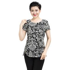 N.L女式针织侧拉链短袖衫