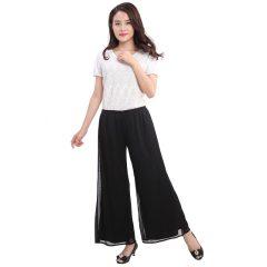 N.L 女士针织双层阔腿裤  货号118414