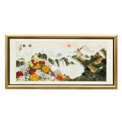 张同禄《源脉》掐丝景泰蓝画 货号120826
