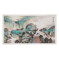 《深山高居图》国画典藏