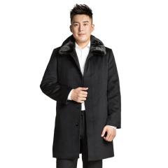 MASANA玛萨纳男士羊绒水貂大衣  货号121791