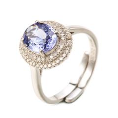 翠璨绚丽倾城坦桑石钻石戒指