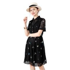 DS曲花纳珠连衣裙