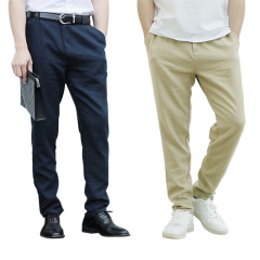 JC男士亚麻休闲裤