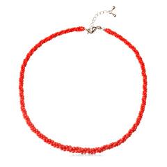 三井红珊瑚圆珠项链央广独供组