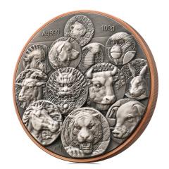 上币百年生肖双金属公斤纪念章