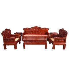 锦绫阁和和美美满雕沙发套组