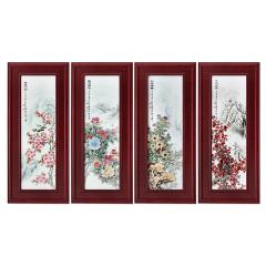《四季盛景》四条屏珍藏
