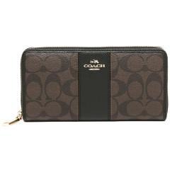 蔻驰(COACH)女士经典C纹长款钱包手拿包54630