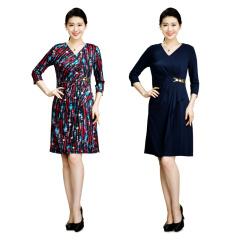CELLE西琳V领时尚修身连衣裙  货号121025