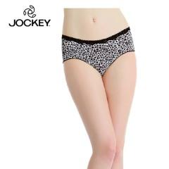 JOCKEY 女莱卡蕾丝柔细无痕小平角内裤