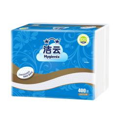 洁云 400张压花卫生纸8包原厂整箱装