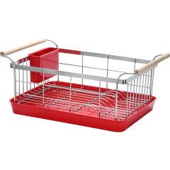 炊大皇碗碟架 厨房置物架 不锈钢沥水架碗碟架子收纳架带筷子筒