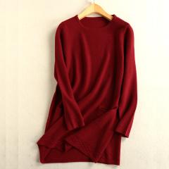 Magifas女士30绒羊绒长裙(深灰色、枣红色)