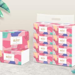 班布舒竹木纤维纸面巾安全轻柔婴幼儿可用抽纸一包8提