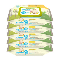 韩国原装进口木之惠Living芦荟婴儿湿巾5包装