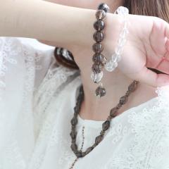 中艺盛嘉石榴石天然水晶套装手链女项链创意生日送女友 饰品礼物