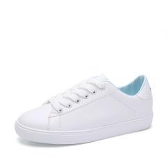 卡帝乐鳄鱼女鞋 春季新款小白鞋韩版百搭时尚休闲鞋系带平底单鞋