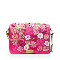 【香港直邮】Michael Kors粉色/金色皮革单肩包30S8GJ4C6Y-Ultra-Pink