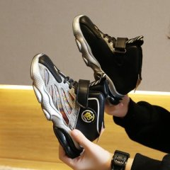 秋冬儿童加绒运动鞋2020年新款女童二棉老爹鞋时尚男童休闲跑步鞋