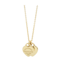 Tiffany & Co./蒂芙尼 双桃心18K黄金项链 22309277