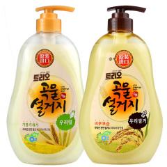 韩国原装进口爱敬谷物洗涤剂2瓶装