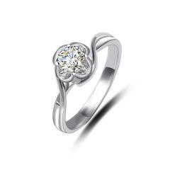 芭法娜 花海 Pt950铂金钻石戒指 女戒 0.3ct G色 SI1 GIA国际证书