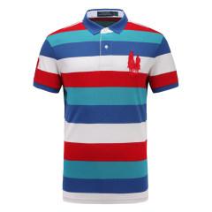 皇家棕榈马球俱乐部 男短袖条纹休闲POLO衫翻领男士T恤13528107