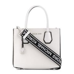 【香港直邮】Michael Kors女士白色皮革手提包30H8SM9M3T-OPTICWHTBLK