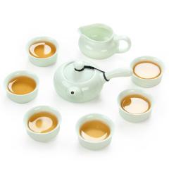 金镶玉 功夫茶具 一碧万顷茶具套组 陶瓷茶具整套