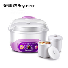 荣事达(Royalstar)电炖锅RDZ-S15L 智能控制面板宝宝煮粥锅白瓷炖盅煲汤一锅三胆隔水炖