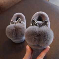 宝宝棉拖鞋冬季1-3岁6女童室内保暖儿童包跟棉鞋男童卡通可爱秋冬