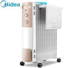 美的 取暖器电暖气家用油汀卧室婴儿暖气片节能油酊烤火炉大面积