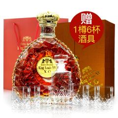 国王路易十五XO白兰地 法国原瓶进口洋酒 礼盒洋酒 700ml*1