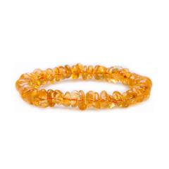 芭法娜 晶灵 天然黄水晶时尚单圈随形手链