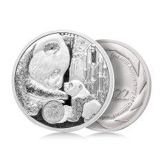 熊猫金币发行40周年纪念金币章