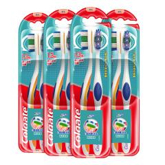 高露洁(Colgate)360全面口腔清洁手动牙刷两支装*4