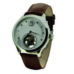 卓派抗战陀飞轮机械纪念收藏男腕表
