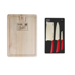 美国康宁家用厨房桦木实木砧板+波尔多套刀3件组WK-BECPB/CN+WK-BECPB/CN
