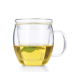 金镶玉 玻璃杯 秋水依旧杯 高硼硅耐热耐高温花茶水杯