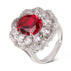 CW倾城之恋合成红宝石戒指