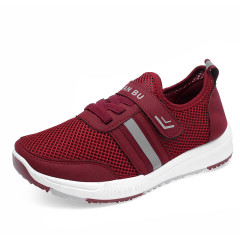 健步鞋中老年2019春季新款防滑软底老人磁疗鞋休闲运动鞋