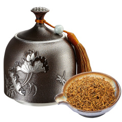 瓯叶红茶 荷美系列 武夷山金骏眉红茶 锡罐礼盒装 120g