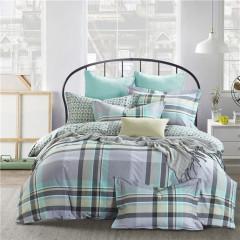 VIPLIFE家纺 简约条纹全棉四件套 纯棉床单被套高端13372 40S床品套件-品格生活