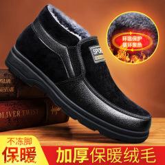 老北京棉鞋2020冬季新款舒适加绒软底布鞋防滑软底中老年爸爸男鞋M9