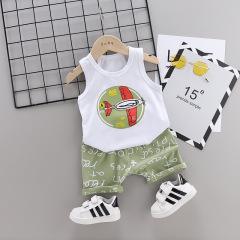 菲儿小屋 儿童套装夏季1-4岁男女童无袖背心两件套纯棉套装