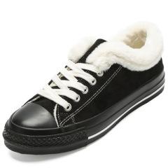 贝贝女鞋羊津绒棉鞋2019冬季女棉鞋韩版加绒保暖冬鞋